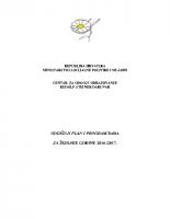 Godisnji plan program rada 2016-2017