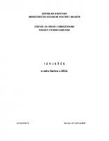 Izvjesce o radu centra 2014