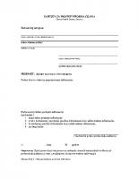 Obrazac zahtjeva za pristup informacijama