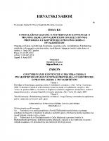 Zakon o potvrdjivanju konvencije o pravima osoba s invaliditetom i fakultativnog protokola uz konvenciju o pravima osoba s invaliditetom